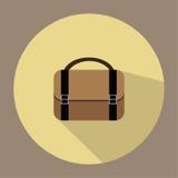 Μια απεικόνιση είναι ένα εικονίδιο τσαντών γραφείων Ή μια βαλίτσα μπορεί να χρησιμοποιηθεί για τα μέσα Στοκ Εικόνα