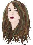 Πράσινος-μαλλιαρό κορίτσι Στοκ Εικόνα