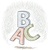 Γράμματα ABC Στοκ φωτογραφίες με δικαίωμα ελεύθερης χρήσης