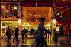 Μια από οδό Istiklal οδών της Τουρκίας τη διασημότερη Στοκ Φωτογραφίες
