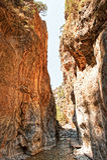 Φαράγγι Samaria Στοκ εικόνα με δικαίωμα ελεύθερης χρήσης