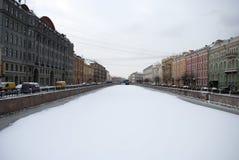 Μια από τις προοπτικές σε Άγιο Πετρούπολη Στοκ εικόνα με δικαίωμα ελεύθερης χρήσης