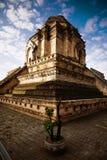Μια αρχαία παγόδα καταστροφών σε Wat Chedi Luang Στοκ Εικόνες