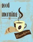 Μια αφίσα που επιθυμεί μια καλημέρα Στοκ Εικόνες