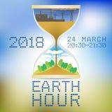 Μια αφίσα της γήινης ώρας Διανυσματική απεικόνιση