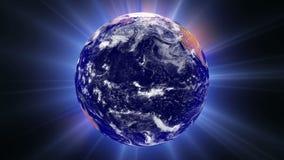 Μια αύρα του φωτός τυλίγει τη γη ελεύθερη απεικόνιση δικαιώματος