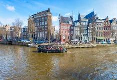 Μια βάρκα γύρου επίσκεψης στο Άμστερνταμ Στοκ φωτογραφίες με δικαίωμα ελεύθερης χρήσης