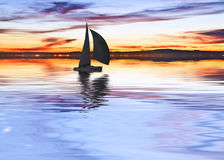 Μια βάρκα στη λίμνη Στοκ Εικόνες
