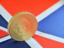 Μια βρετανική λίρα αγγλίας στοκ εικόνες