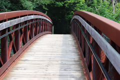 Μια γέφυρα για πεζούς Στοκ εικόνα με δικαίωμα ελεύθερης χρήσης