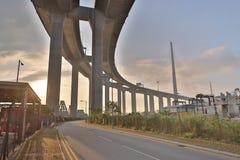 Μια γέφυρα Stonecutters και η εθνική οδός sha Tsing στοκ εικόνες