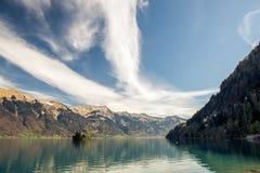 Μια γαλήνια λίμνη brienz στην Ελβετία Στοκ φωτογραφίες με δικαίωμα ελεύθερης χρήσης