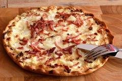 Μια γαλλική πίτσα Στοκ φωτογραφίες με δικαίωμα ελεύθερης χρήσης