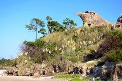 Μια γενική άποψη της EL Aguila ο αετός, Atlantida, Ουρουγουάη Στοκ εικόνες με δικαίωμα ελεύθερης χρήσης