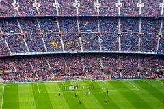 Μια γενική άποψη του σταδίου Nou στρατόπεδων στον αγώνα ποδοσφαίρου Στοκ Εικόνα