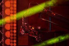 Μια γενική ατμόσφαιρα με την τηλεοπτική παραγωγή στη σκηνή κατά τη διάρκεια της μεγάλης μουσικής της Apple απονέμει τη συναυλία τ Στοκ φωτογραφία με δικαίωμα ελεύθερης χρήσης