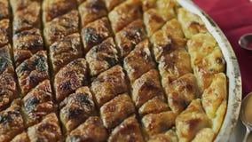Μια γλυκιά πίτα, baklava απόθεμα βίντεο