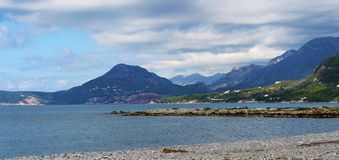 Μια γραφική άποψη των βουνών στο Μαυροβούνιο στοκ εικόνες με δικαίωμα ελεύθερης χρήσης