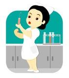 Νοσοκόμα στο εργαστήριο Στοκ εικόνες με δικαίωμα ελεύθερης χρήσης