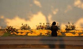 Μια γυναίκα που προσεύχεται για το βασιλιά Στοκ εικόνα με δικαίωμα ελεύθερης χρήσης