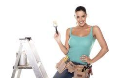 Γυναίκα DIY. στοκ φωτογραφία