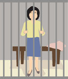 Μια γυναίκα στη φυλακή Στοκ εικόνες με δικαίωμα ελεύθερης χρήσης