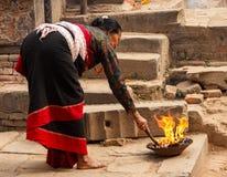 Μια γυναίκα Newari σε Bhaktapur, Νεπάλ Στοκ φωτογραφίες με δικαίωμα ελεύθερης χρήσης