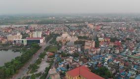 Μια γωνία πόλεων άνωθεν απόθεμα βίντεο