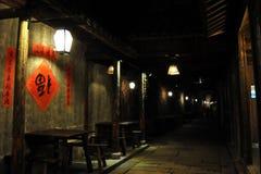 Μια γωνία της αλέας νύχτας μέσα, zhejiang επαρχία στοκ εικόνες με δικαίωμα ελεύθερης χρήσης