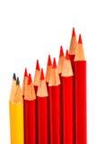 Μια δέσμη του μολυβιού που απομονώνεται στο λευκό Στοκ Εικόνες