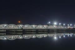 Μια διάσημη γέφυρα Napier ορόσημων σε Chennai, Ινδία, που κατασκευάζεται πέρα από τον ποταμό Coovum στοκ φωτογραφία