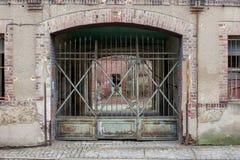 Μια είσοδος στις καταστροφές ενός κτηρίου Στοκ Φωτογραφίες