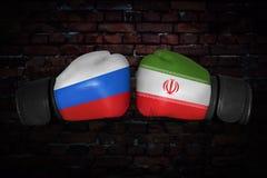 Μια εγκιβωτίζοντας αντιστοιχία μεταξύ των ΗΠΑ και της Ρωσίας Στοκ εικόνες με δικαίωμα ελεύθερης χρήσης
