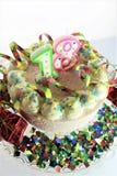 Μια εικόνα έννοιας ενός κέικ γενεθλίων - γενέθλια 18 Στοκ εικόνα με δικαίωμα ελεύθερης χρήσης