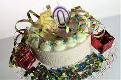 Μια εικόνα έννοιας ενός κέικ γενεθλίων - γενέθλια 50 Στοκ φωτογραφίες με δικαίωμα ελεύθερης χρήσης