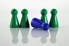 Μια εικόνα έννοιας ενός παιχνιδιού Parcheesi, της επιδείνωσης, και του προβλήματος - Ludo Στοκ εικόνα με δικαίωμα ελεύθερης χρήσης