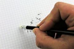 Μια εικόνα έννοιας μιας διόρθωσης λάθους, λάθος - με το διάστημα αντιγράφων Στοκ Εικόνες
