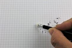 Μια εικόνα έννοιας μιας διόρθωσης λάθους, λάθος - με το διάστημα αντιγράφων Στοκ Φωτογραφία