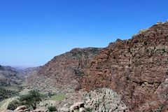 Μια εικόνα για τα καφετιά βουνά στοκ φωτογραφίες
