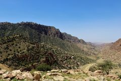Μια εικόνα για τα μαύρα βουνά στοκ φωτογραφία