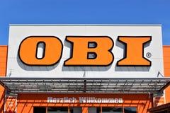 Μια εικόνα ενός καταστήματος OBI - λογότυπο - Minden/Γερμανία - 07/18/2017 Στοκ Φωτογραφία