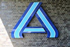 Μια εικόνα ενός λογότυπου υπεραγορών aldi - Luegde/Γερμανία - 10/01/2017 Στοκ εικόνα με δικαίωμα ελεύθερης χρήσης
