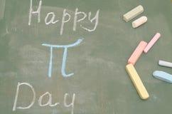 Μια εικόνα του αριθμού pi στο σχολικό πίνακα με την κιμωλία Στοκ Φωτογραφία