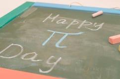 Μια εικόνα του αριθμού pi στο σχολικό πίνακα με την κιμωλία Στοκ Εικόνα