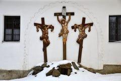 Μια εικόνα των crucifixs σε Golgota Στοκ Φωτογραφίες