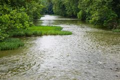 Μια ειρηνική άποψη του ποταμού Roanoke Στοκ Φωτογραφία