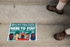 Μια ειρηνική επίδειξη Στοκ εικόνες με δικαίωμα ελεύθερης χρήσης
