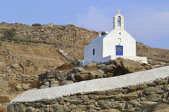 Μια εκκλησία σε Mykonos, Ελλάδα Στοκ Φωτογραφία