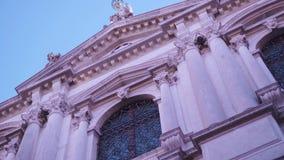 Μια εκκλησία στη Βενετία απόθεμα βίντεο