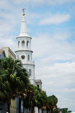 Μια εκκλησία στο Τσάρλεστον (η Ιερή Πόλη) στη νότια Καρολίνα Στοκ φωτογραφία με δικαίωμα ελεύθερης χρήσης